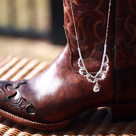 by Marty Hadding - Artistic Objects Jewelry ( sparkle and shine, cowboy boots, diamond, rhinestone, jewelry, necklace, object, artistic )