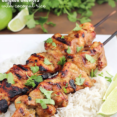 Thai Coconut Chicken Skewers