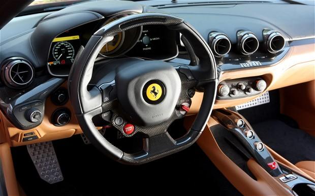 Ferrari F12 Berlinetta carbon fiber cup holder