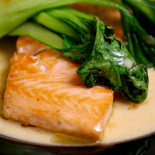 Salmon with Thai Red Curry and Bok Choy