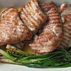 Dinner Tonight: Pork Paillards with Orange Marmalade Vinaigrette