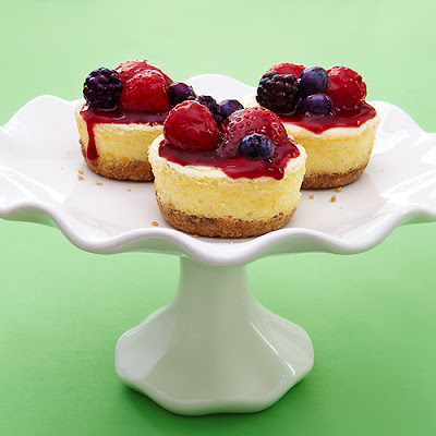 Greek Yogurt Cheesecakes with Quick Berry Compote