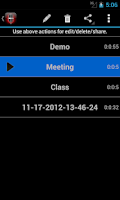 Screenshot of Voice Memos