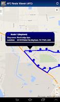 Screenshot of AFC's Bus Tracker