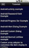 Screenshot of Android Tutorial