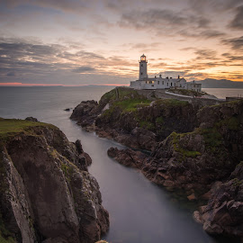 Fanad at Dawn by Greg Sinclair - Landscapes Waterscapes ( ireland, nature, fanad, lighthouse, sunrise, donegal )