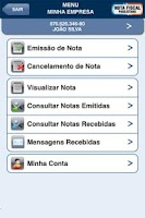 Screenshot of NOTA FISCAL PAULISTANA