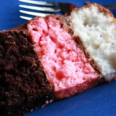 Fun Neapolitan Birthday Cake