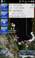 Screenshot of Tracky GPS navigation +compass