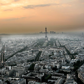 Paris from Montparnasse Tower by Jesús Sánchez Ibáñez - City,  Street & Park  Skylines ( pwcskylines )