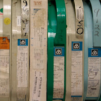 Audiocassettes photographed during an archival digitization project at Michigan State University