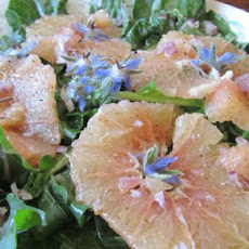 Sunset Magazine's Greens With Pink Grapefruit and Borage Flowers