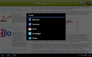 Screenshot of Presse Citron
