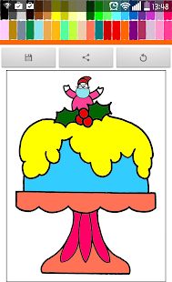 Coloring : Birthday Cake - screenshot