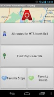 Screenshot of MTA Metro North: AnyStop