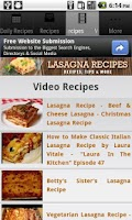 Screenshot of Lasagna Recipes!