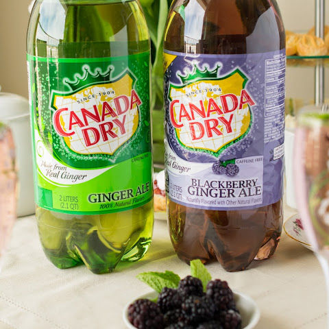 Afternoon tea with a Canada Dry Blackberry Ginger Ale® Champagne blackberry cocktail