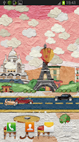 Screenshot of Paper Paris Live Wallpaper