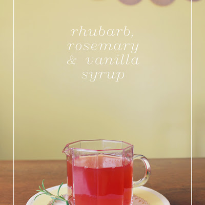Rhubarb Syrup with Rosemary & Vanilla