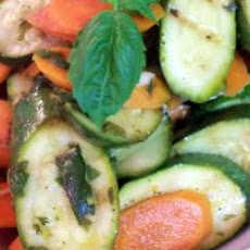 Zucchini and Carrots With Green Onion and Dill