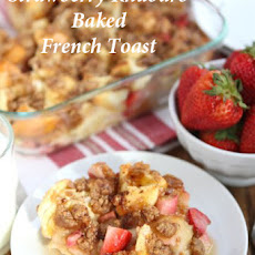 Strawberry Rhubarb Baked French Toast