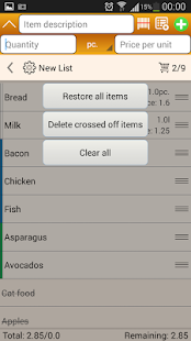Shopping List Screenshot
