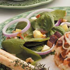 Apple Spinach Salad with Zippy Dressing