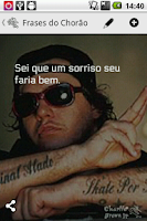 Screenshot of Frases do Chorão