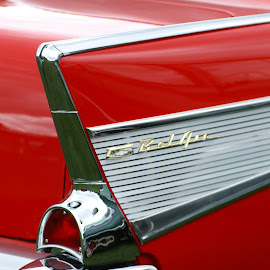 Back to the '50s by Susan Fries - Transportation Automobiles ( car, automobiles, red, back to the 50's, tailfin,  )