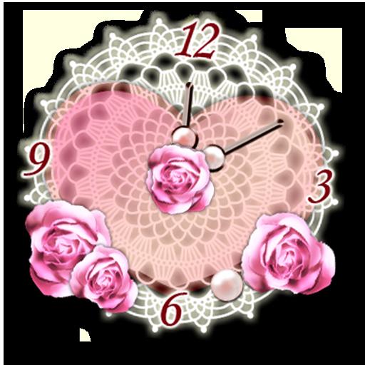ハートのアナログ時計ウィジェット 個人化 App LOGO-硬是要APP