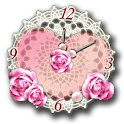 Heart Analog Clock Widget