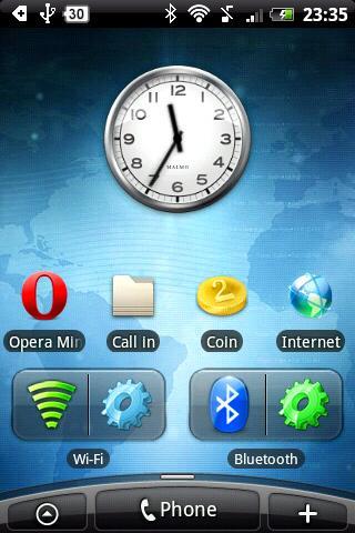 Bluetooth Widget Settings
