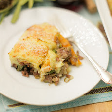 Shepherd's Pie with Baby Carrots and Leeks