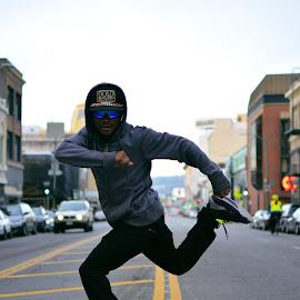 Live to dance in Oakland by David Meza - City,  Street & Park  Street Scenes ( art, oakland, downtown oakland, dance, broadway, downtown, dancer, zap.inc )
