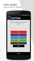 Screenshot of myTime - time tracking