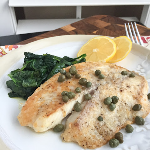 Parmesan Crusted Fish with Lemon and Capers
