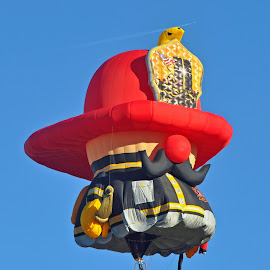 Fireman by Dawn Hoehn Hagler - Transportation Other ( balloon fiesta, hot air balloon, albuquerque balloon fiesta, albuquerque, fireman, balloon )