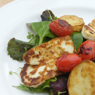 Halloumi Salad with Balsamic Tomatoes
