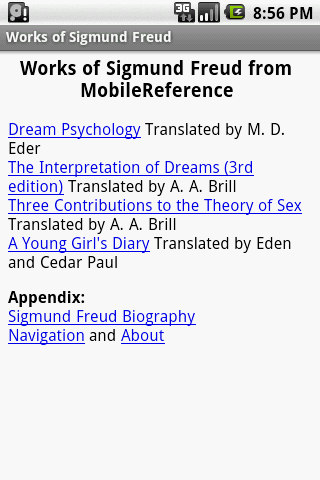 Works of Sigmund Freud