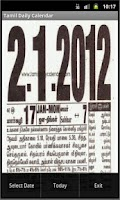 Screenshot of Tamil Daily Calendar