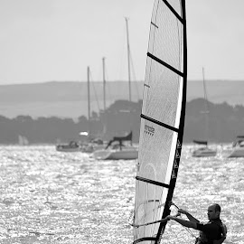 I have right of way! by Richard Bull - Sports & Fitness Watersports ( poole harbour )
