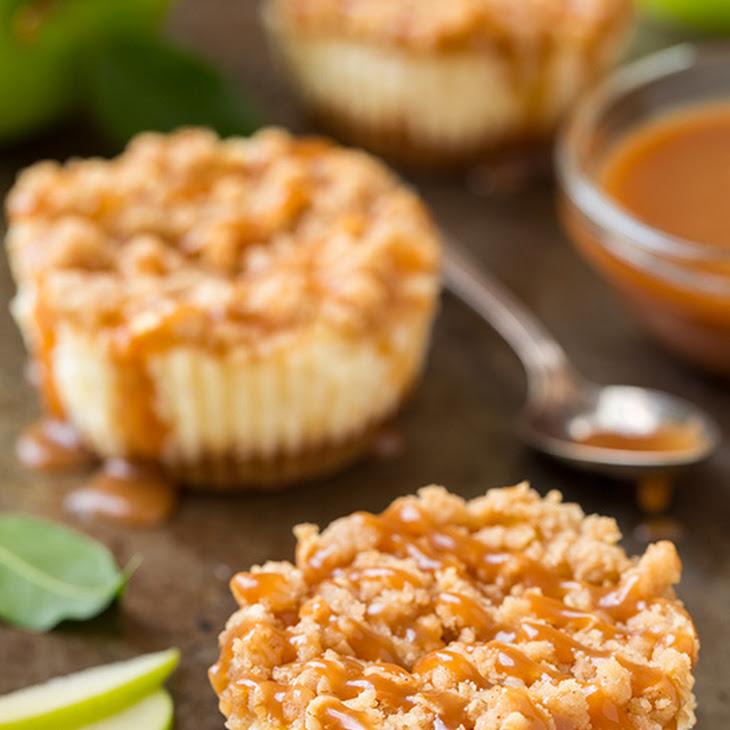 ... Stuffed Apple Muffins With Streusel Topping And Caramel Sauce