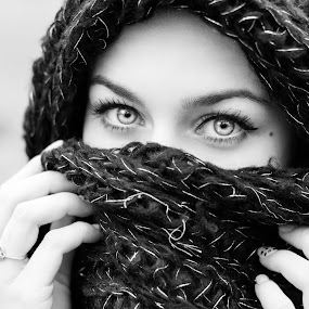 Mysterious Eyes by Cosmin Lita - People Portraits of Women ( woman, mysterious, scarf, portrait, eyes,  )