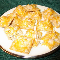 Minced Clam, Cheese Triscuit Cracker Melts