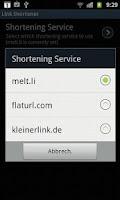 Screenshot of Shorten & Share Links