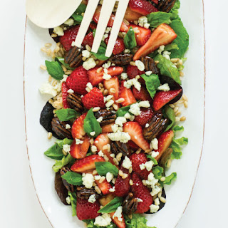 Strawberry Farro Salad with Balsamic Glazed Pecans