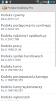 Screenshot of Polskie Kodeksy Pro