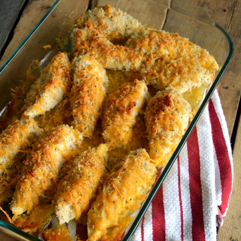 Garlic Cheddar Chicken Strips