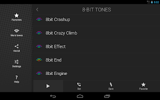 Screenshot of 8-Bit Ringtones
