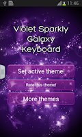 Screenshot of Violet Sparkly Galaxy Keyboard